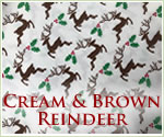 KocoKookie Christmas Bandanas - Cream And Brown Reindeer
