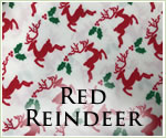 KocoKookie Christmas Bandanas - Cream and Red Reindeer