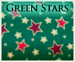 KocoKookie Christmas Bandanas - Green Christmas Stars