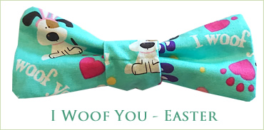 Kocokookie Bow Tie - I Woof You Easter